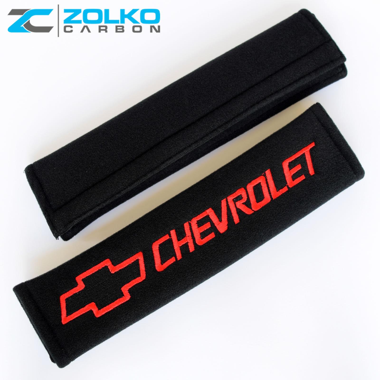 2pcs Seat Belt Shoulder Pad RS Logo Accessories Car Products Compatible Fit For USA Auto Model Chevrolet